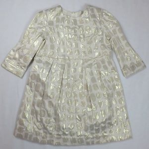 Bonpoint 4T 4 Dress Gold Damask Holiday Party